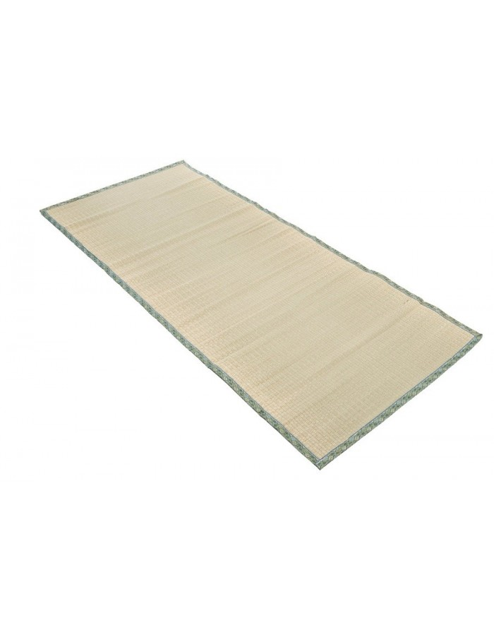 Traditional japanese goza mat for yoga 90 x 200 cm green for 90 x 200 beds