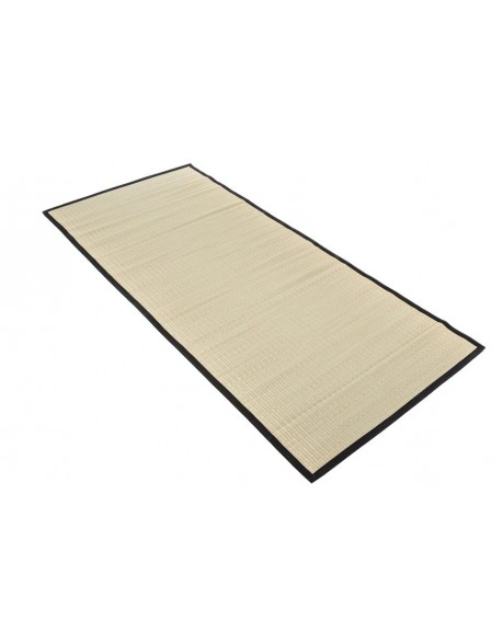 Traditional Japanese Goza Mat for Yoga 90 x 200 cm Black