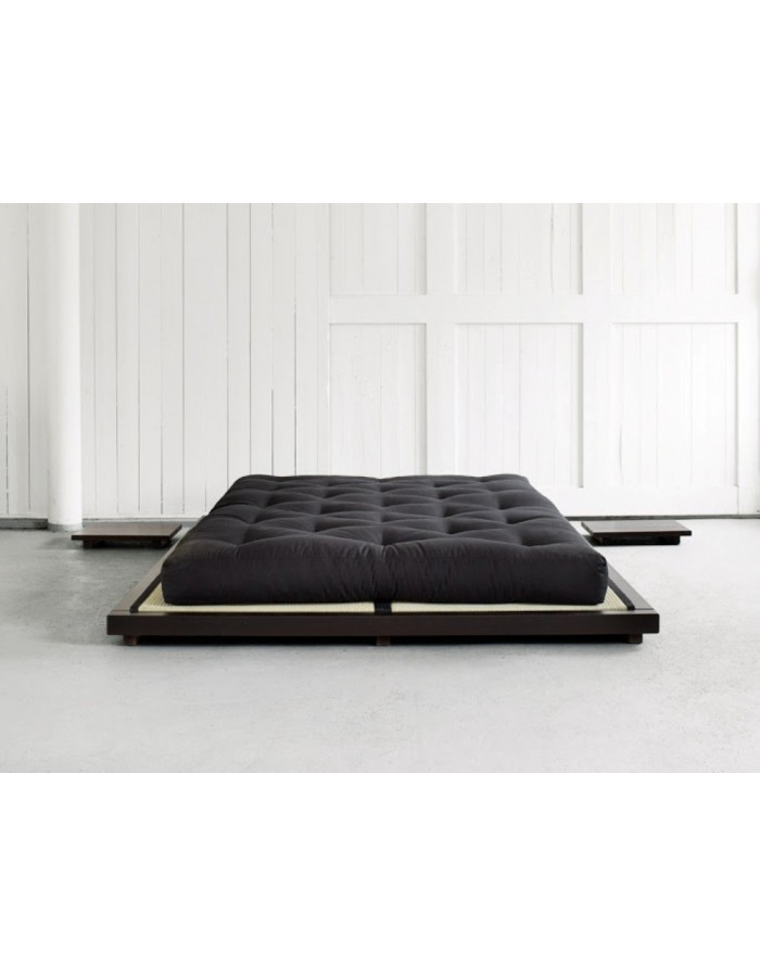 Dock futon bed with tatami mats traditional low level for Futon e tatami