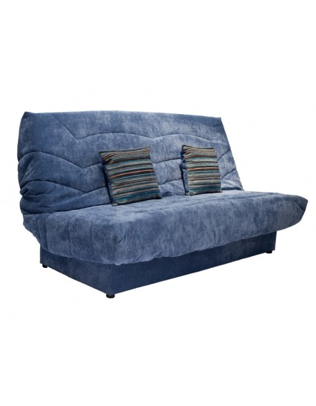 The Clic Clac Sofa Bed in Denim Blue soft chenille fabric