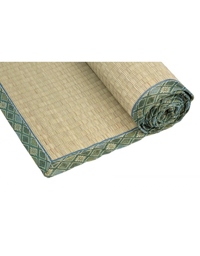 Traditional Japanese Goza Mat for Yoga 90 x 200 cm Green ...
