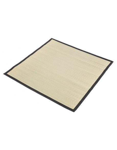 Traditional Japanese Goza Mat for Meditation 90 x 90 cm Black