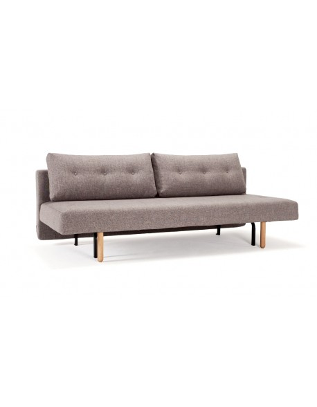 Innovation Rhomb Sofa Bed in Mixed Dance Grey fabric.