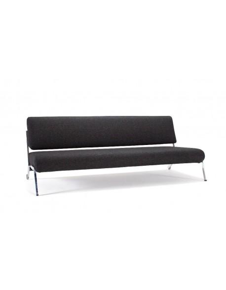 Debonair Sofa Bed In Nist Black with Chrome Legs