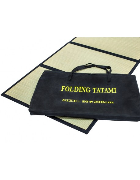 Folding Tatami Mat makes an excellent exercise or Yoga mat, folding neatly into a carry bag.