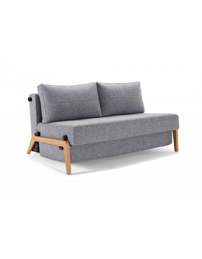 Innovation Living Cubed Wood 140 And 160 Sofa Bed Light Oak Legs