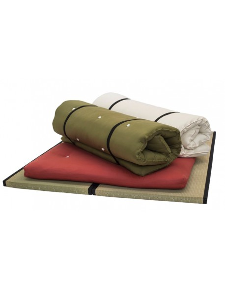 The Nomad Bed Roll is available in a choice of 3 cotton drill fabrics