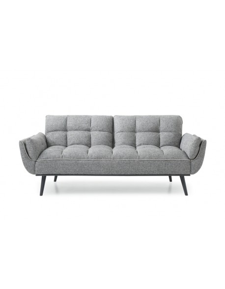 collette clic clac sofabed easy to use modern style grey fabric rh futons247 co uk grey sofa bed 3 seater grey sofa bed sale