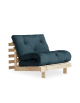 Roots Futon chair bed, natural frame, Petrol futon