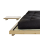 Detail of Dock Bed with side table and futon mattress options