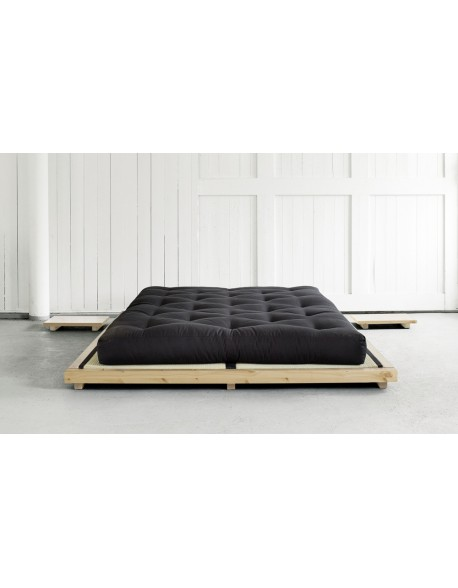 Dock Bed Natural Finish with Tatami Mats and optional futon mattress