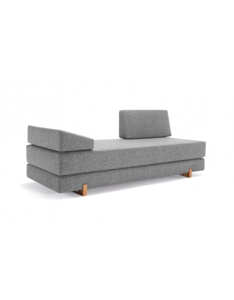 Innovation Myk Daybed Set in Twist Granite fabric