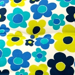 Blue & Lime Flower Fabric.